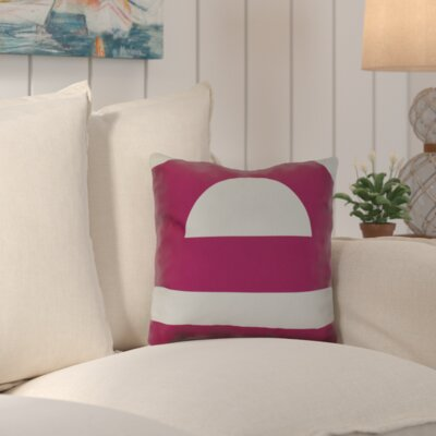 Golden Gate Coastal Throw Pillow Size: 26 H x 26 W x 3 D, Color: Pink
