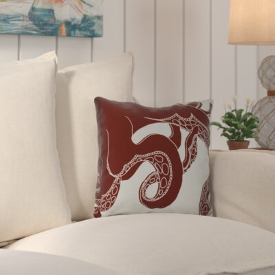Golden Gate Geometric Throw Pillow Size: 26 H x 26 W x 3 D, Color: Red