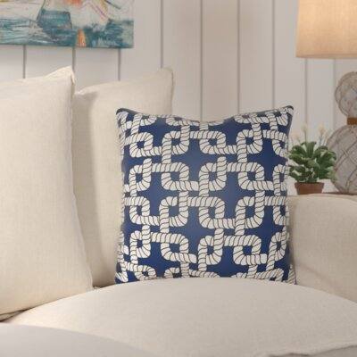 Kirkham Rope Indoor/Outdoor Throw Pillow Size: 20