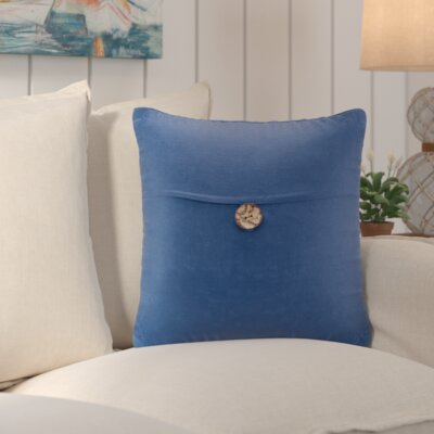 Williamsville Square Throw Pillow Color: Navy
