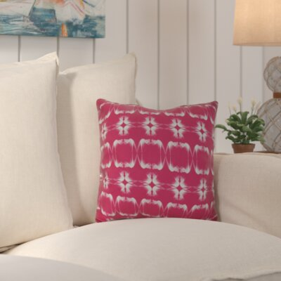 Golden Gate Coastal Square Throw Pillow Size: 18 H x 18 W x 3 D, Color: Pink
