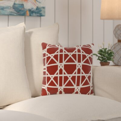 Cabana Colony Geometric Outdoor Throw Pillow Color: Orange
