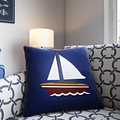 Baywood Indoor/Outdoor Throw Pillow Size: 18 H x 18 W x 4 D, Color: Blue