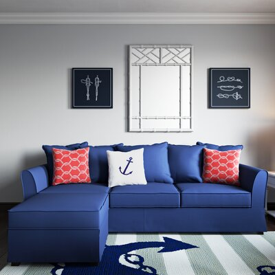Ellington Sectional Upholstery: Nautical Blue