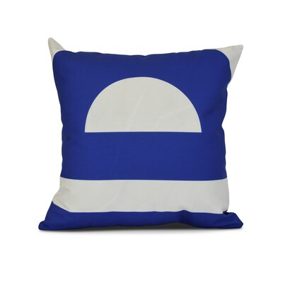 Golden Gate Coastal Throw Pillow Size: 26 H x 26 W x 3 D, Color: Blue