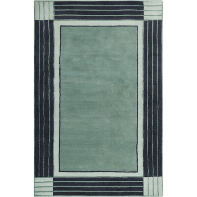Westfield Hand Tufted Wool Teal Blue/Navy Blue Area Rug Rug Size: 5 x 76