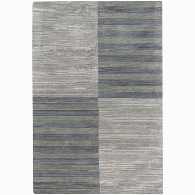 Rosecroft Stripe and Checked Area Rug Rug Size: 5 x 76