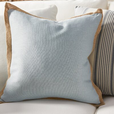 Spencer Linen Throw Pillow Color: Blue
