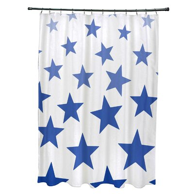 Petersfield Just Stars Shower Curtain Color: Blue