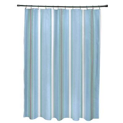 Petersfield Multi-Stripe Shower Curtain Color: Light Blue