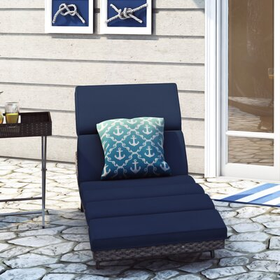 Denton Nautical Knots Ombre Outdoor Throw Pillow Size: 16 H x 16 W x 4 D