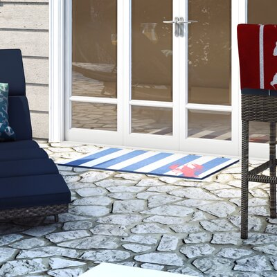Greenhills Lobster Navy/White Area Rug