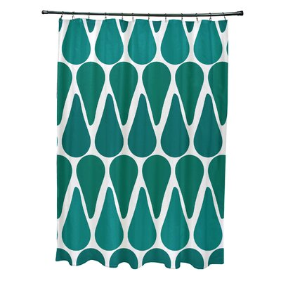 Golden Gate Contemporary Shower Curtain Color: Teal