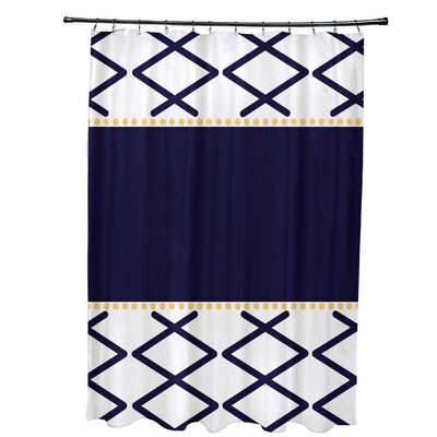 Bartow Knot Fancy Shower Curtain Color: Navy Blue