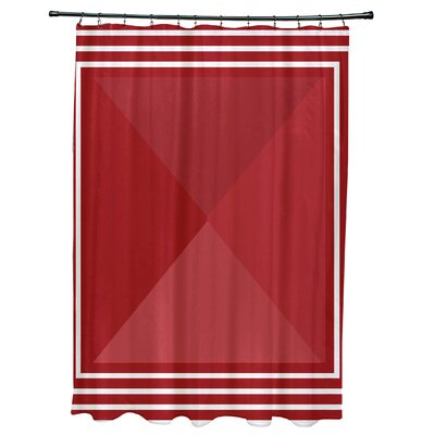 Bartow Nautical Angles Shower Curtain Color: Red