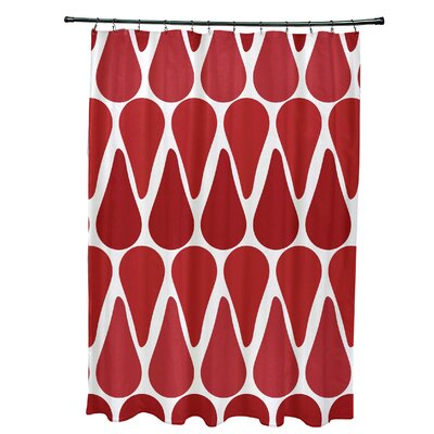 Golden Gate Contemporary Shower Curtain Color: Red