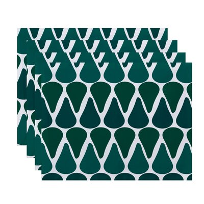 Bartow Watermelon Seeds Placemat Color: Teal