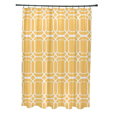 Golden Gate Contemporary Geometric Shower Curtain Color: Yellow