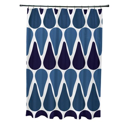 Golden Gate Contemporary Shower Curtain Color: Navy Blue