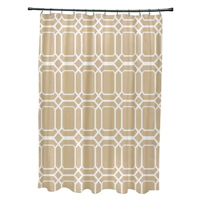 Golden Gate Contemporary Geometric Shower Curtain Color: Taupe
