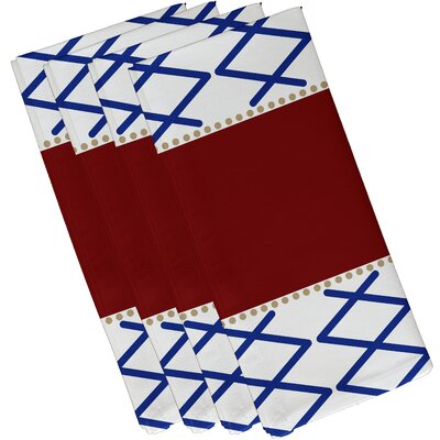 Bartow Knot Fancy Napkin Color: Red/Blue
