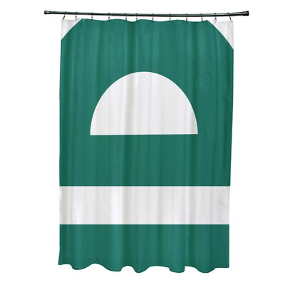Golden Gate Geometric Shower Curtain Color: Green