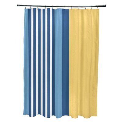 Bartow Beach Shack Shower Curtain Color: Yellow