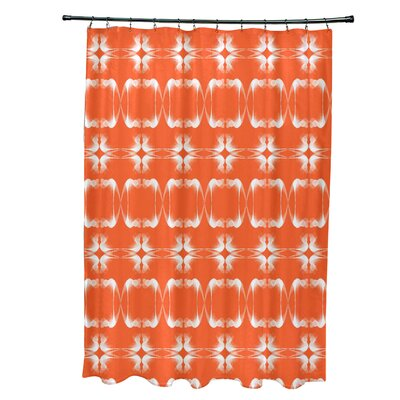 Bartow Summer Picnic Shower Curtain Color: Orange