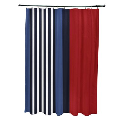 Bartow Beach Shack Shower Curtain Color: Red
