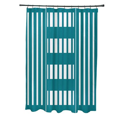 Bartow Beach Blanket Shower Curtain Color: Teal