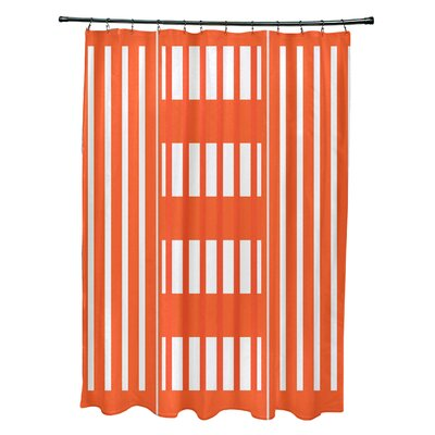 Bartow Beach Blanket Shower Curtain Color: Orange