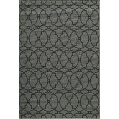 Halliday Charcoal Indoor/Outdoor Area Rug Rug Size: Rectangle 18 x 36