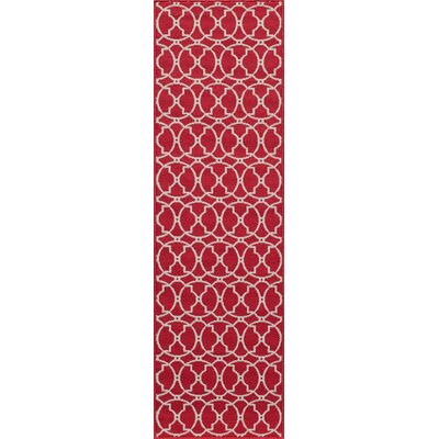Halliday Traditional Red Indoor/Outdoor Area Rug Rug Size: 23 x 46