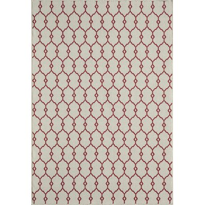 Halliday Traditional Ivory Indoor/Outdoor Area Rug Rug Size: Rectangle 86 x 13