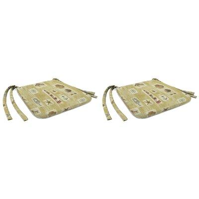 Indoor Chair Cushion Fabric: Beachcomber Sandcastle