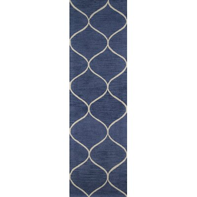 Caldwell Hand-Tufted�Blue Area Rug Rug Size: Rectangle 39 x 59