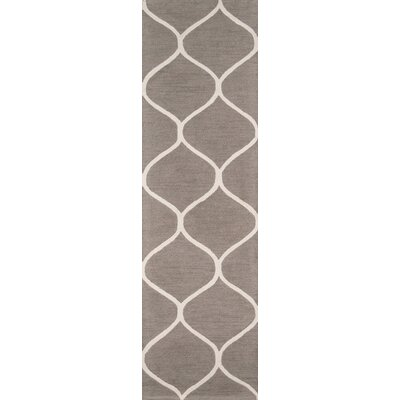 Caldwell Hand-Tufted Gray/Ivory Area Rug Rug Size: Rectangle 9 x 12