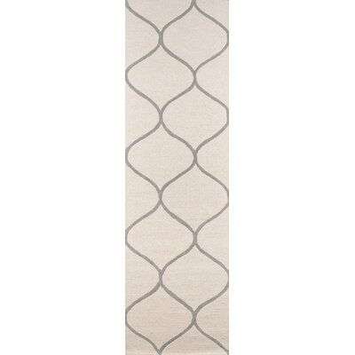 Caldwell Hand-Tufted Ivory Area Rug Rug Size: Rectangle 5 x 8