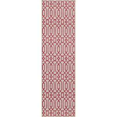 Halliday Ivory Indoor/Outdoor Area Rug Rug Size: 23 x 46