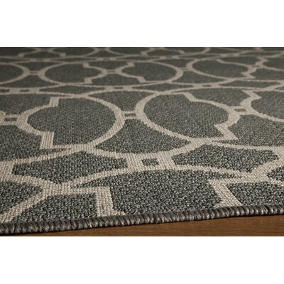 Halliday Gray Indoor/Outdoor Area Rug Rug Size: 23 x 46
