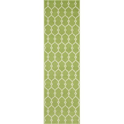 Halliday Traditional Green Indoor/Outdoor Area Rug Rug Size: Runner 23 x 76