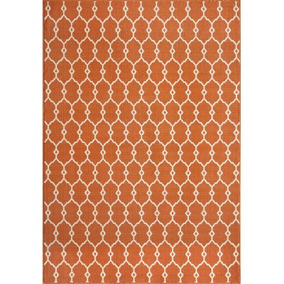 Halliday Traditional Orange Indoor/Outdoor Area Rug Rug Size: Rectangle 2'3