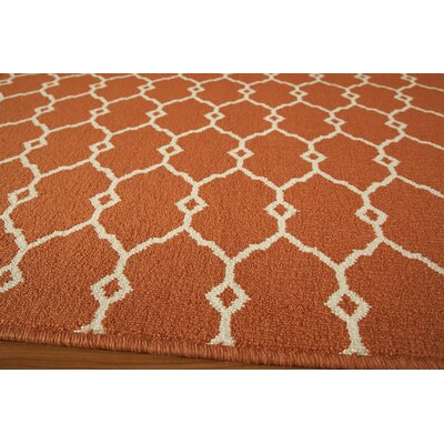 Breakwater Bay Norris Orange Area Rug