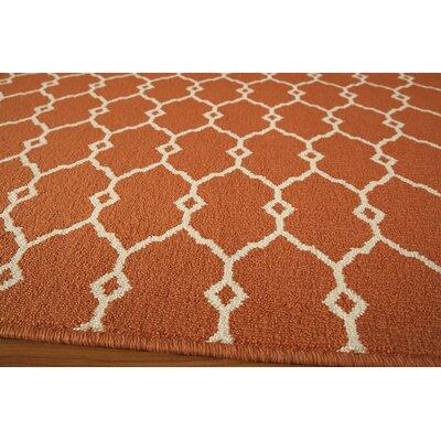 Halliday Traditional Orange Indoor/Outdoor Area Rug Rug Size: 53 x 76