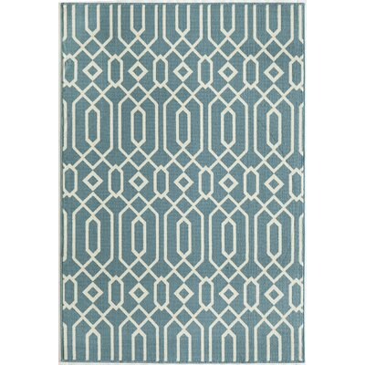 Halliday Traditional Blue Indoor/Outdoor Area Rug Rug Size: 53 x 76
