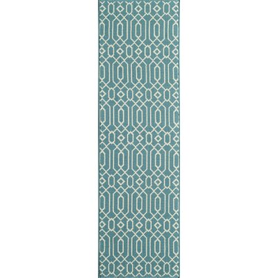 Halliday Traditional Blue Indoor/Outdoor Area Rug Rug Size: Rectangle 18 x 37