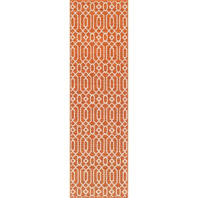 Halliday Orange Indoor/Outdoor Area Rug Rug Size: Runner 23 x 76
