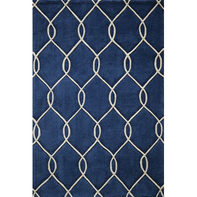 Bassett Hand-Tufted Navy Area Rug Rug Size: Rectangle 36 x 56