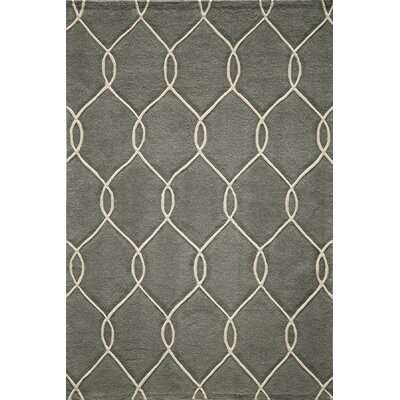 Bassett Hand-Tufted Steel Area Rug Rug Size: Rectangle 5 x 76