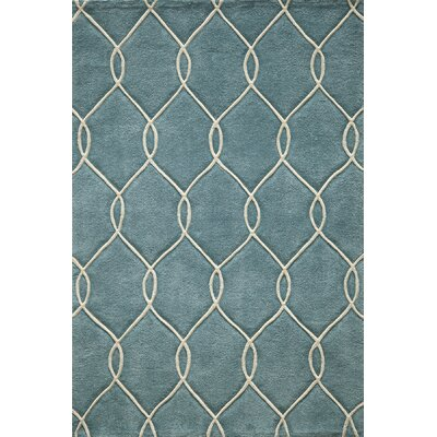 Bassett Hand-Tufted Teal Area Rug Rug Size: Rectangle 5 x 76